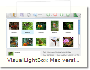 JavaScript Image Gallery Mac version - Main Window